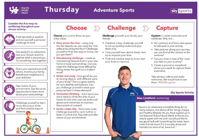NSSW Humber Activities 2020 - THURSDAY