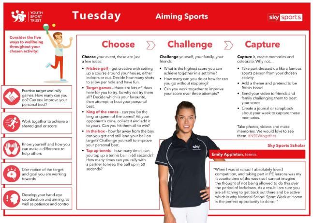 NSSW Humber Activities 2020 - TUESDAY