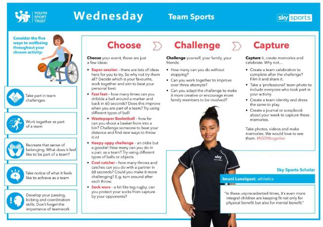 NSSW Humber Activities 2020 - WEDNESDAY